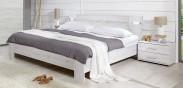 Vicenza - Komplet, postel 160 cm (dub bílý)