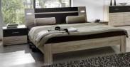 Vicenza - Komplet, postel 160 cm (dub/lava černá)