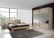 Vicenza - Komplet velký, postel 180 cm (dub)