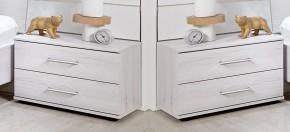 Vicenza - Noční stolek 2x (dub bílý)