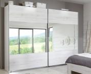 Vicenza - Šatní skříň 2, 2x posuvné dveře (dub bílý)