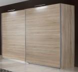 Vicenza - Šatní skříň 4, 2x posuvné dveře (dub)