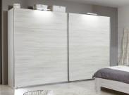 Vicenza - Šatní skříň 5, 2x posuvné dveře (dub bílý)