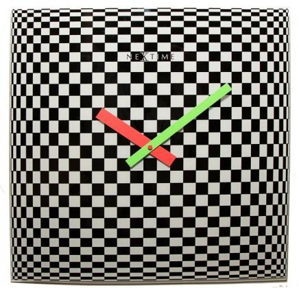 Victor - hodiny, nástěnné, hranaté (sklo, barevné)