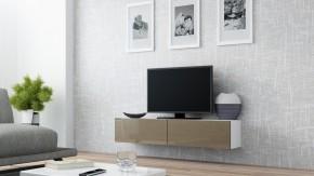 Vigo - TV komoda 140 (bílá/latte lesk)