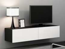 Vigo - TV komoda 140 (černá mat/bílá VL)