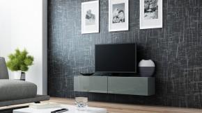 Vigo - TV komoda 140 (šedá/šedá lesk)