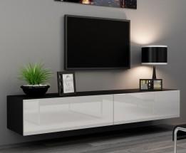 Vigo - TV komoda 180 (černá mat/bílá VL)