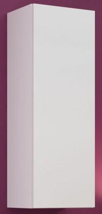 Vigo - Vitrína závěsná, 1x dveře (bílá mat/bílá VL)
