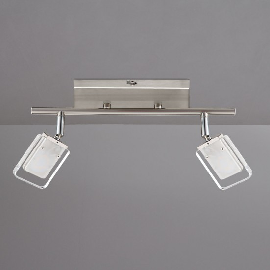 Vileta - Stropní osvětlení, LED (matný nikl)