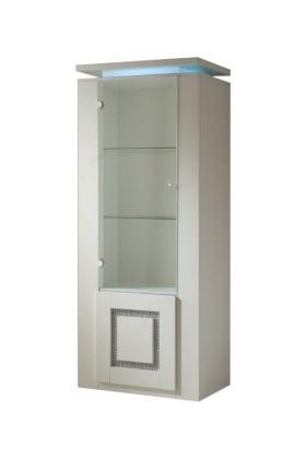 Vitrína Diva - Vitrína, 2x dveře (bílá/diamant)