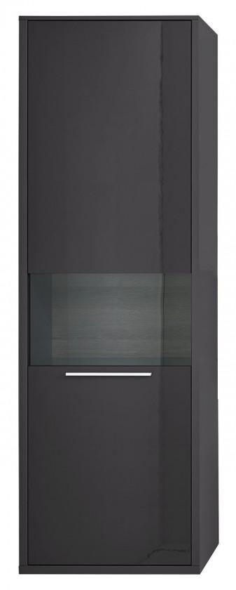Vitrína Gamble - Vitrína 570127R (antracit/antracit lesk/panel dub tm)