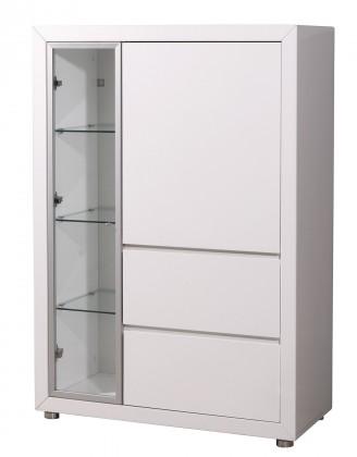 Vitrína GW-Fino - Vitrína,2x dveře,2x šuplík,pravá (bílá)
