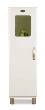 Vitrína Malibu - Vitrína (bílá, 1x dveře)