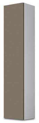 Vitrína Vigo - Vitrína závěsná 180, 1x dveře (bílá/latte lesk)