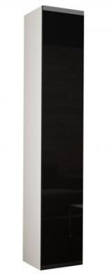 Vitrína Vigo - Vitrína závěsná 180, 1x dveře (bílá mat/černá VL)