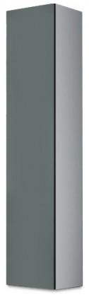 Vitrína Vigo - Vitrína závěsná 180, 1x dveře (bílá/šedá lesk)