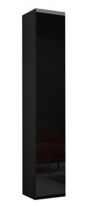 Vitrína Vigo - Vitrína závěsná 180, 1x dveře (černá mat/černá VL)