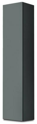 Vitrína Vigo - Vitrína závěsná 180, 1x dveře (šedá/šedá lesk)