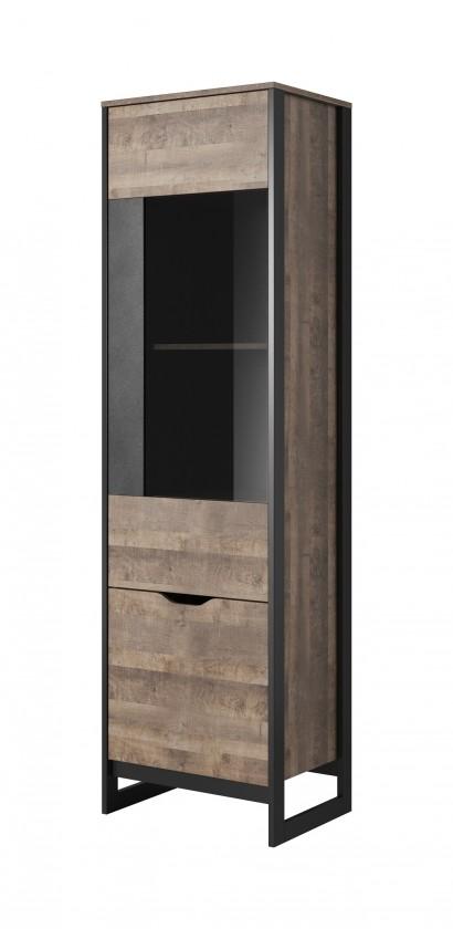 Vitrína Vitrína Laura vysoká, 2 dveře s LED osvětlením