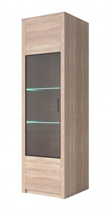 Vitrína Vitrína Nemesis - vysoká, 1x dveře, univerzální (dub sonoma)