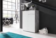 Viva - Obývací komoda malá (cement šedá/bílá)