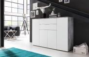 Viva - Obývací komoda velká (cement šedá/bílá) - II. jakost