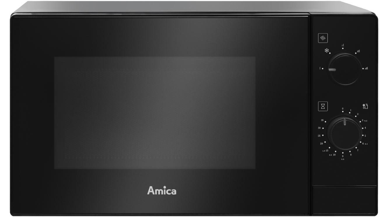 Volně stojící mikrovlnné trouby Volně stojící mikrovlnná trouba Amica AMMF20M1B, 700 W, černá