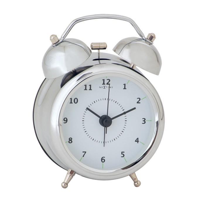 Wake up - hodiny, stojaté, kulaté (kov, bílé)