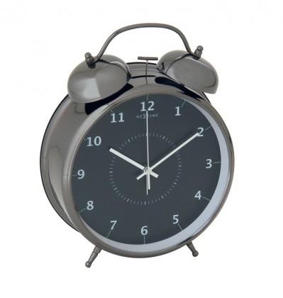 Wake up - hodiny, stojaté, kulaté (kov, černé)