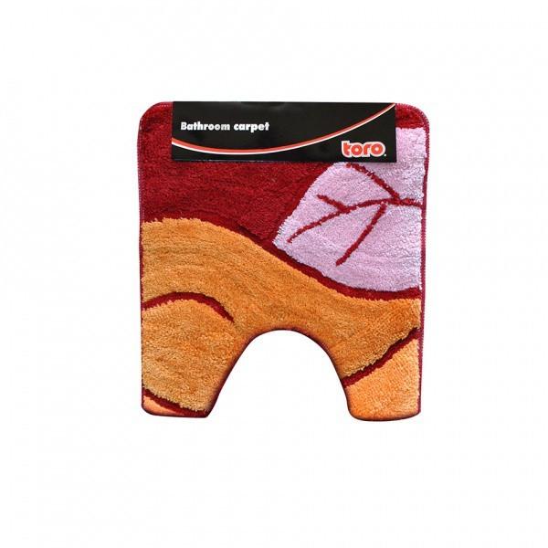 WC předložka, 50x55 cm (motiv list, oranžová)