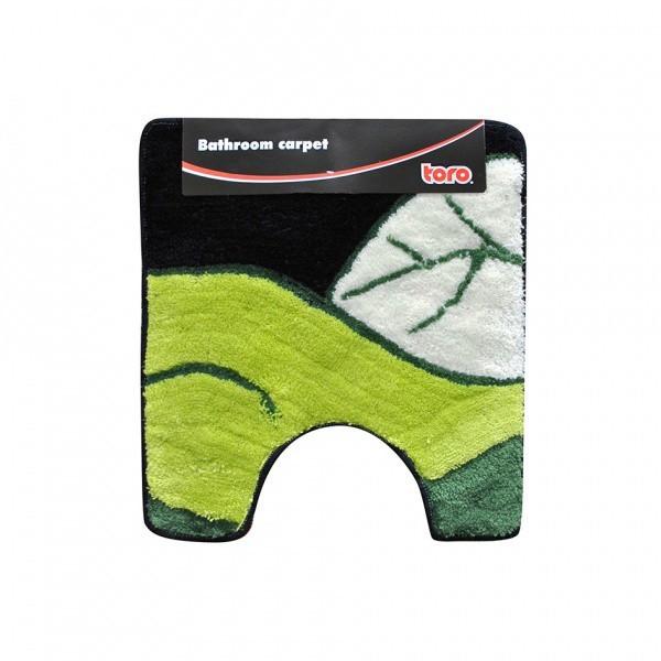 WC předložka, 50x55 cm (motiv list, zelená)