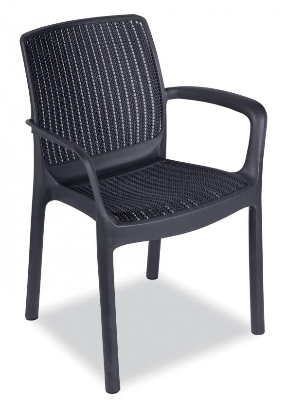 Zahrada ZLEVNĚNO Paradise - Židle (antracit)