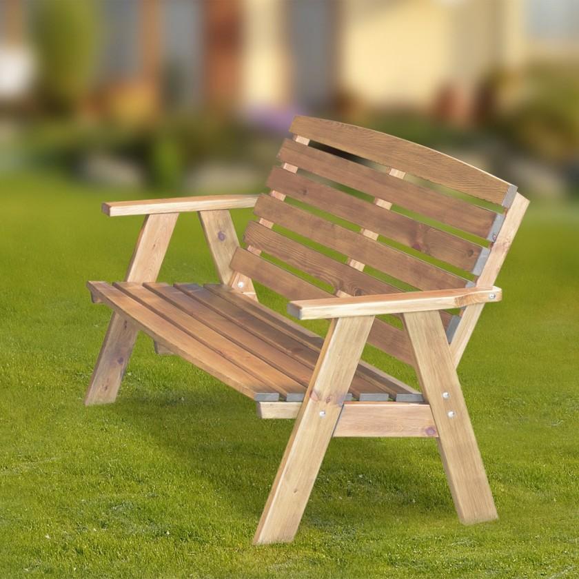 Zahradní lavička Cordoba - Lavice (přírodní bez povrchové úpravy)