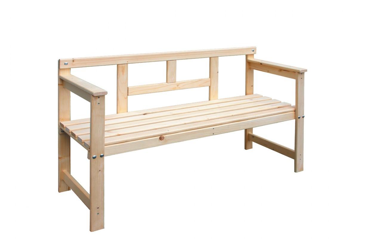 Zahradní lavička Dřevěná lavice 120x45x80 cm (přírodní)