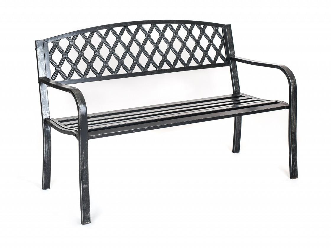 Zahradní lavička Lusso - Lavička zahradní (černá)