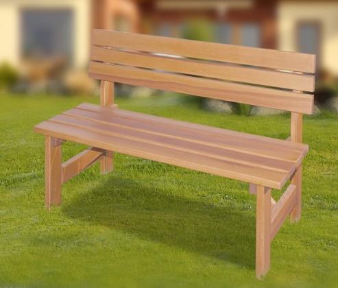 Zahradní lavička Porto - Lavice (přírodní bez povrchové úpravy)
