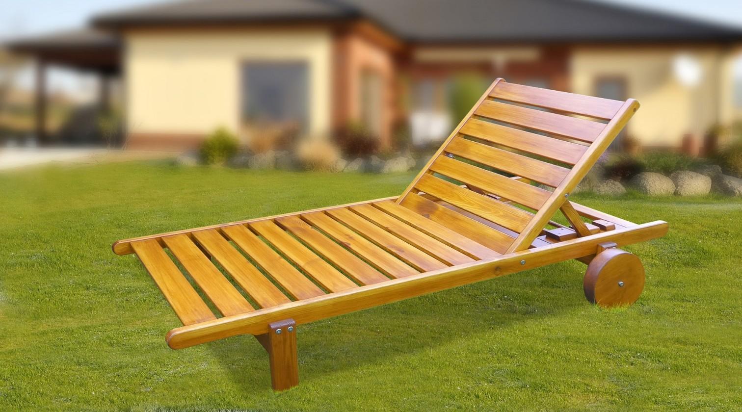 Zahradní lehátko Relax - Polohovací lehátko (pinie)