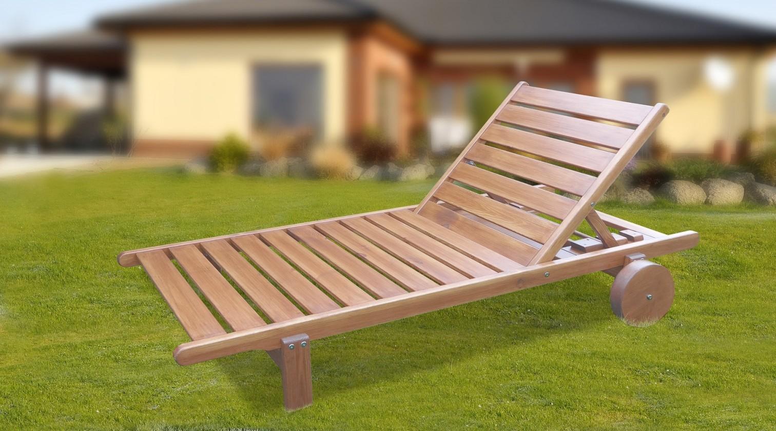 Zahradní lehátko Relax - Polohovací lehátko (přírodní - bezbarvě impregnované)
