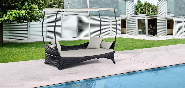 Zahradní postel Monterey (šedá)
