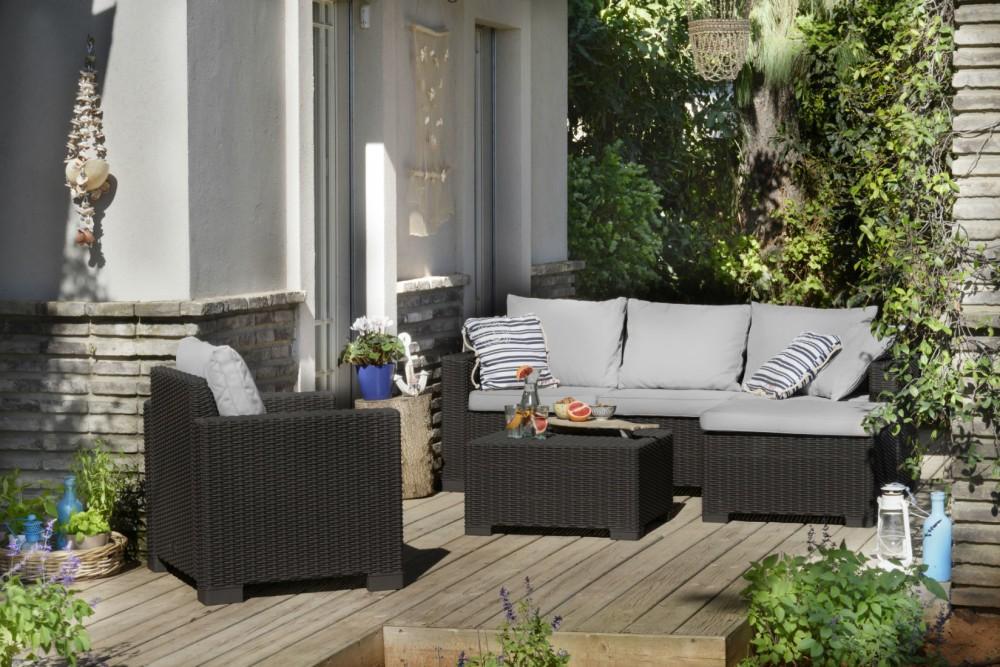 Zahradní sety Maatea - Zahradní sedací souprava (grafit/šedá)