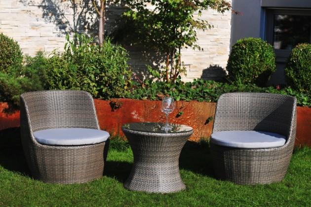 Zahradní sety Sydney - Skládací set (šedá)
