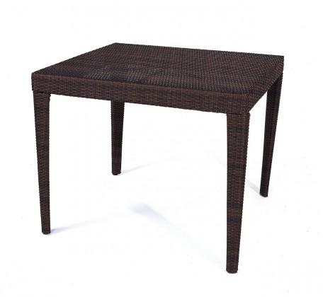 Zahradní stůl Dallas - Jídelní stůl, 90x90 cm (hnědá)