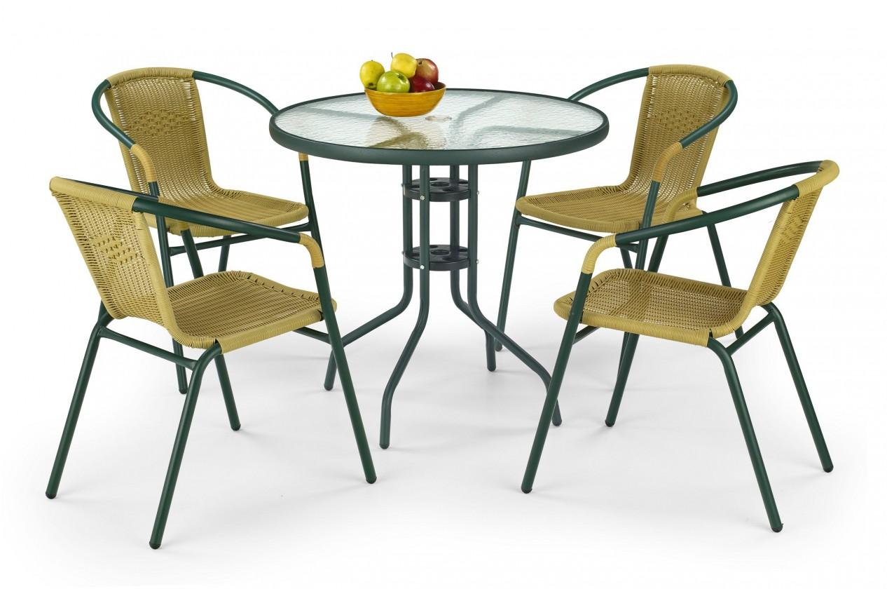 Zahradní stůl Grand 80 (tmavě zelený)