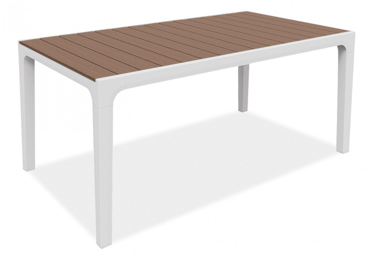 Zahradní stůl Harmony - Stůl (bílá, cappuccino)