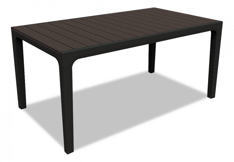 Zahradní stůl Harmony - Stůl (černá, hnědá)