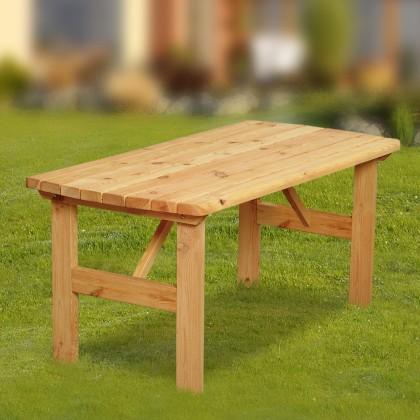 Zahradní stůl Mallorca - Stůl (přírodní - bezbarvě impregnované)