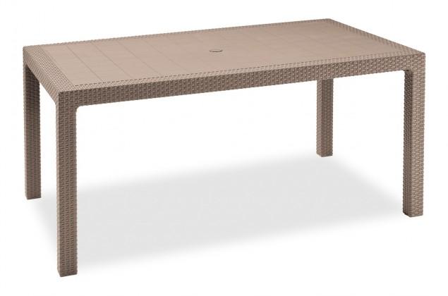 Zahradní stůl Melody - Stůl, 161 cm (cappuccino)