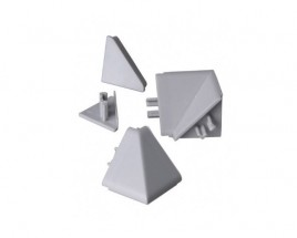 Zakončení lišty na kuchyňskou linku (trojúhelník, stříbrná)