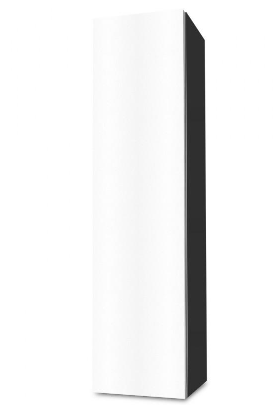 Závěsná Brisbane - závěsná skříň nízká,panty vlevo (antracit/bílá)